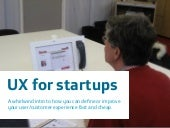 UX for startups - Wayra workshop