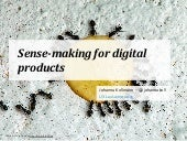 Sense-making for digital products - UX Lausanne