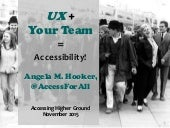 UX + Your Team = Accessibility