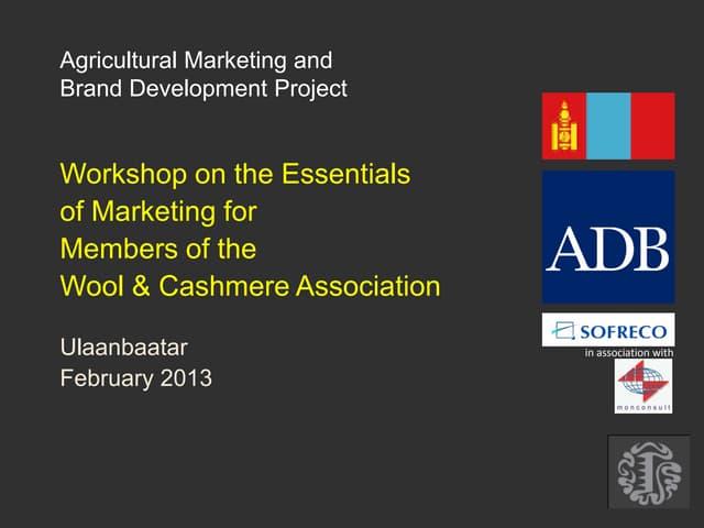 V.4 training on marketing mongolia jan feb 2013