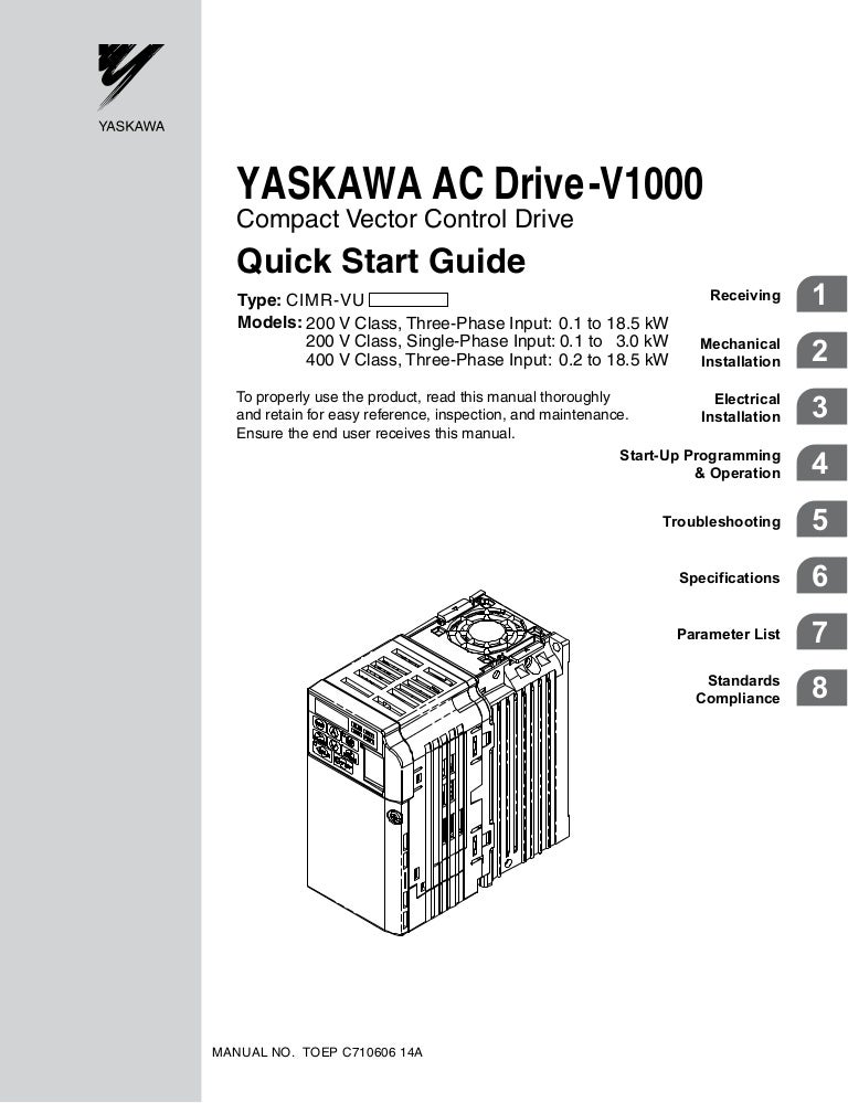 v1000quickstartmanual 110104045500 phpapp01 thumbnail 4?cb=1294116933 v1000 quick start manual yaskawa z1000 wiring diagram at bayanpartner.co