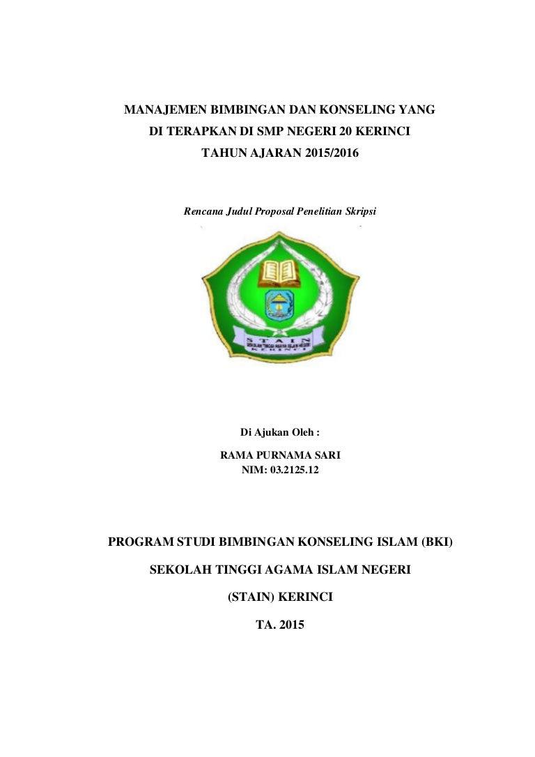 Manajemen Bimbingan Dan Konseling Di Smpn 20 Kerinci Pdf