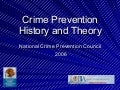 Crime Prevention History And Theory