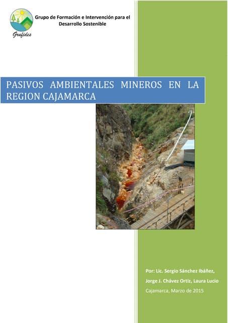 """informe """"Pasivos ambientales de la minería en Cajamarca"""""""