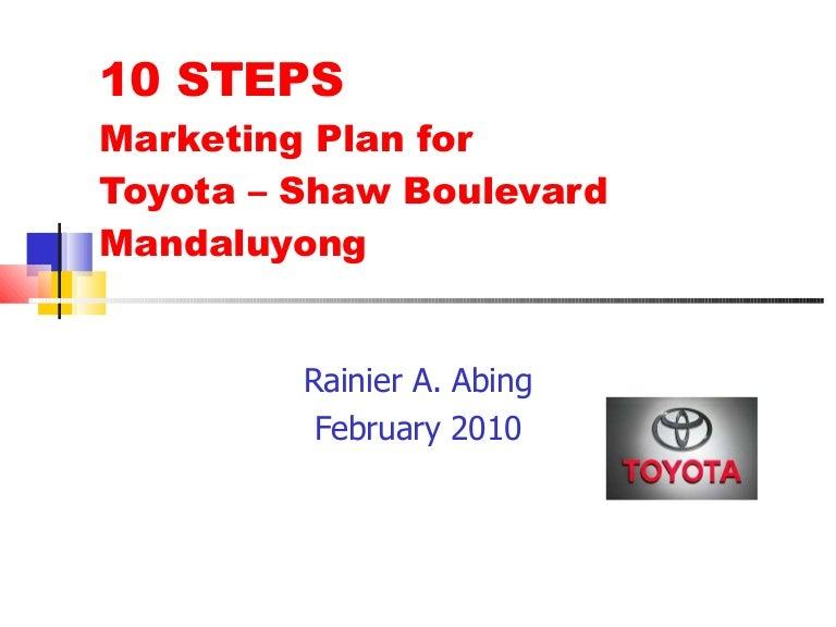 marketing plan for toyota