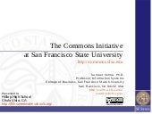 The Commons Initiative at SF State