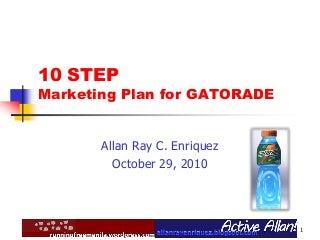 Gatorade Marketing Plan