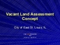 Vacant Land Assessment Concept