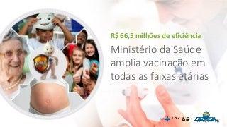 VACINAS do Ministério da Saúde - SUS 2017: ampliação em todas as faixas etárias