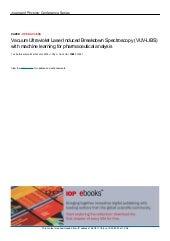 Vacuum ultraviolet laser induced breakdown spectroscopy (vuv libs)