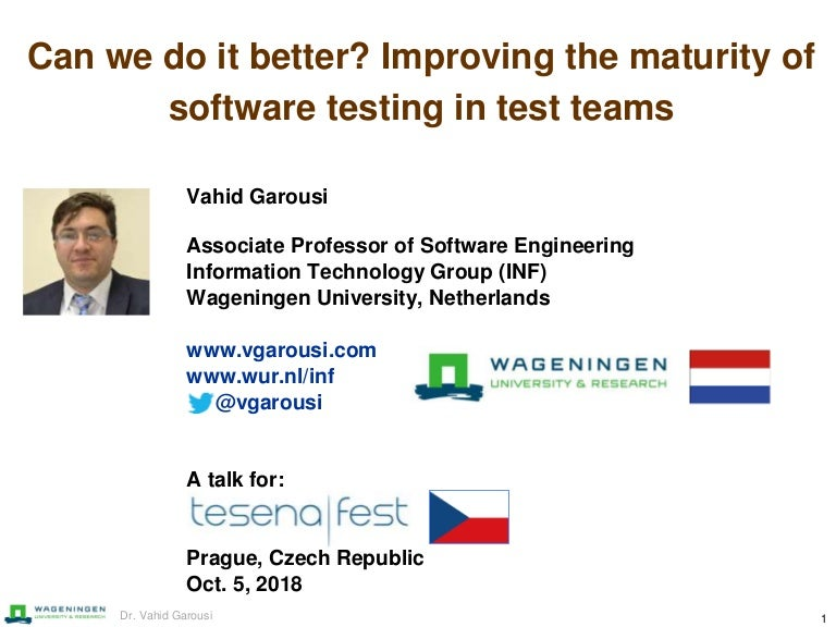 Can we do it better? Improving the maturity of software