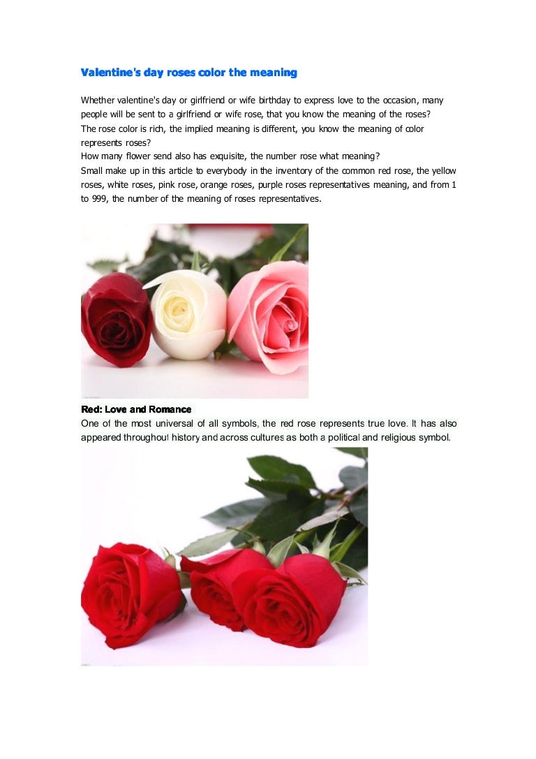 Valentines day roses color the meaning buycottarizona