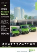 Valeo multi-product lines for Mercedes Sprinter Light Commercial Vehicle LCV 2014-2015 catalogue 996001