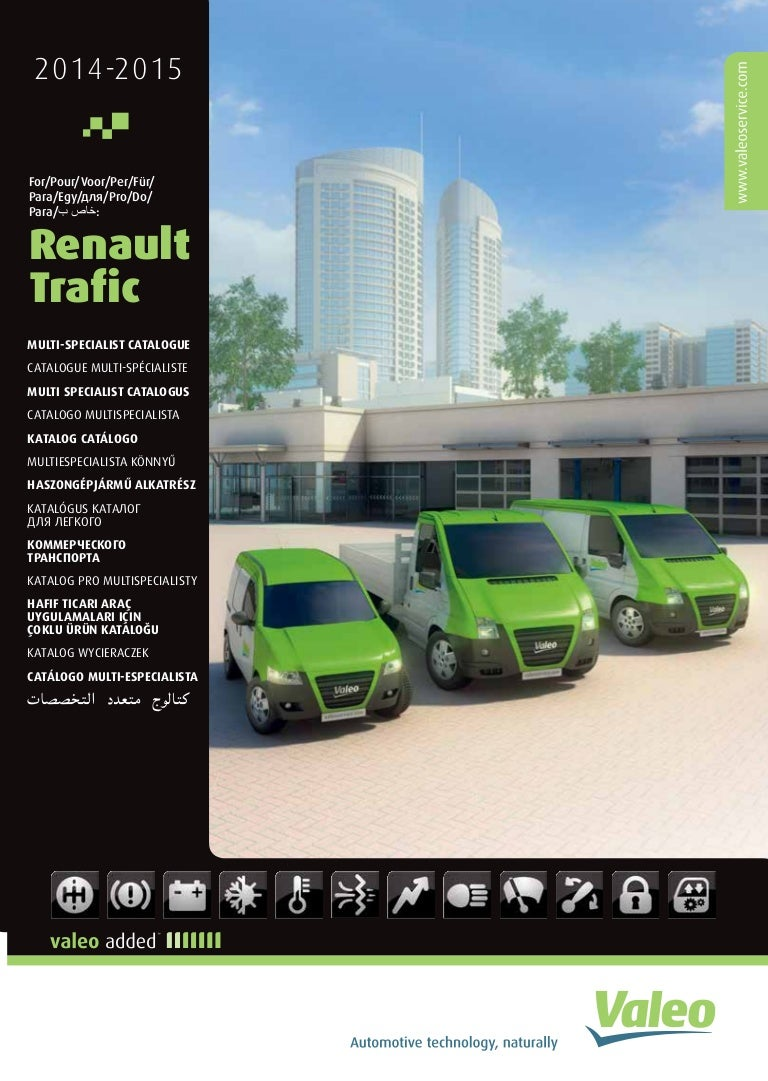 Valeo multi-product lines for Renault Trafic Light Commercial Vehicle…