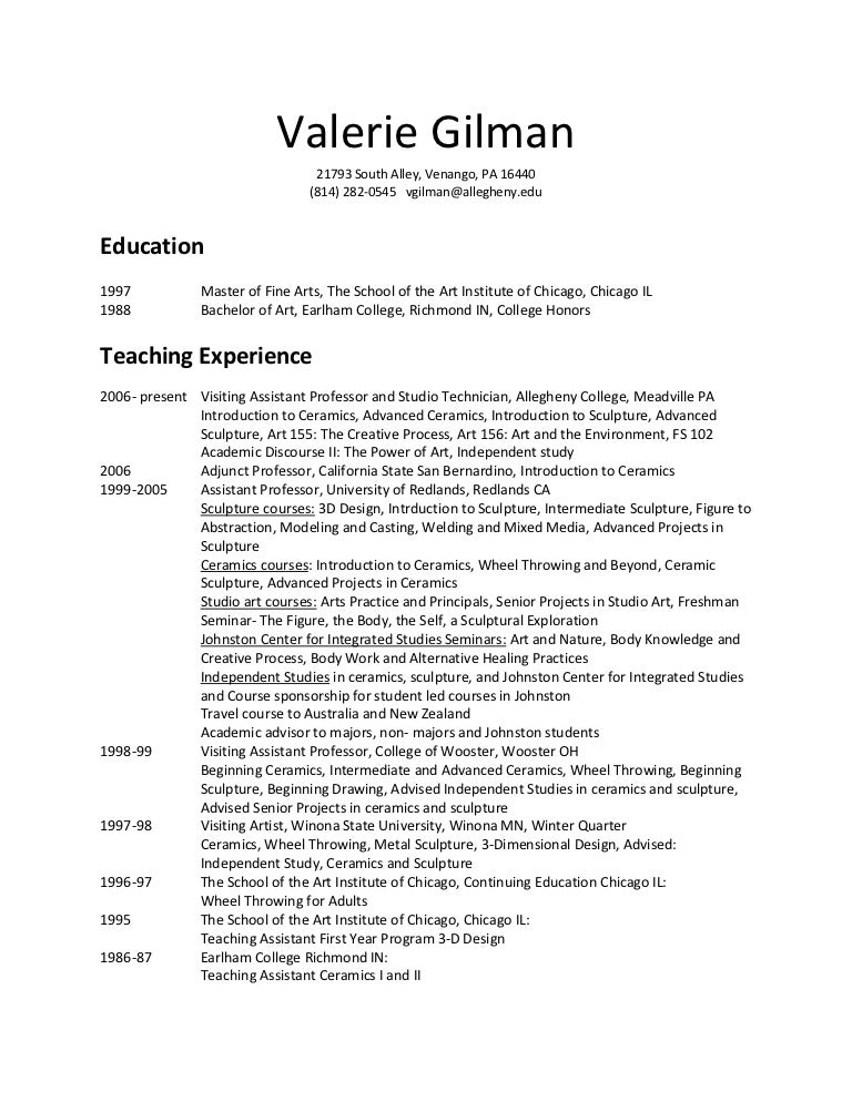 visual artist resume 1 kelly milukas visual artist resume 2015