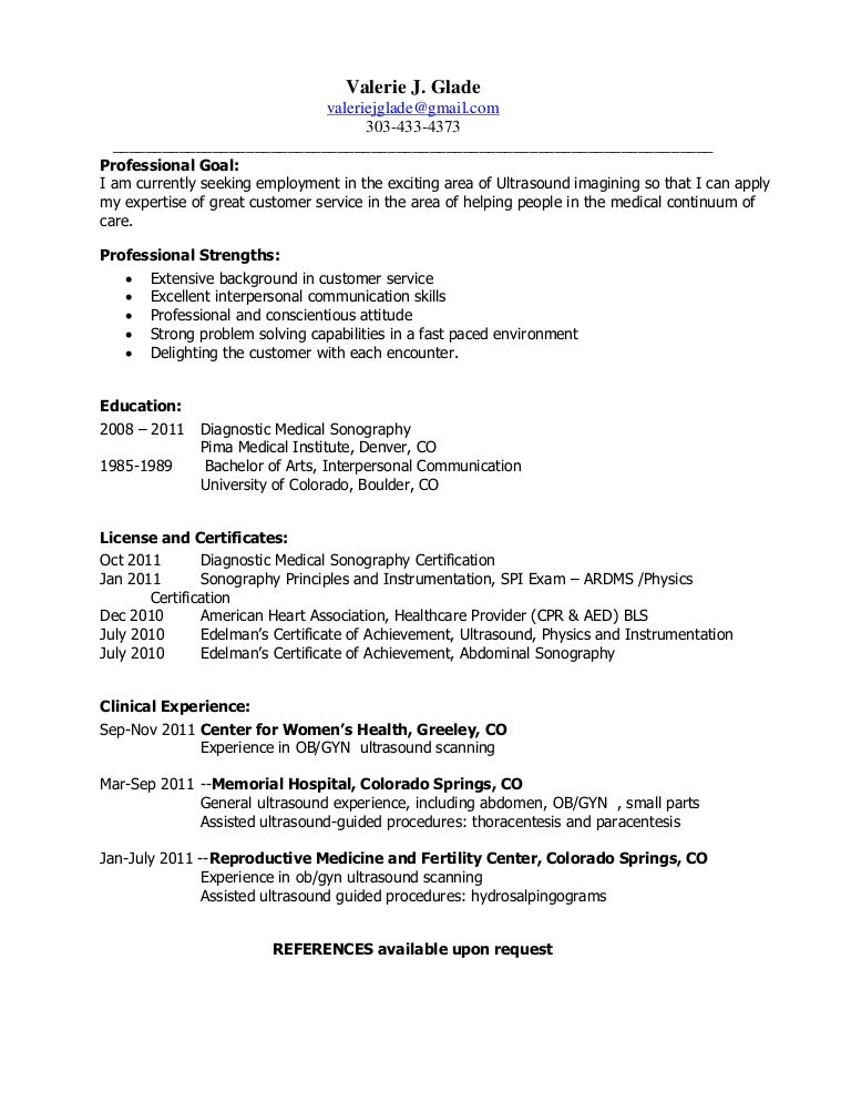 sonographer resume samples april onthemarch co