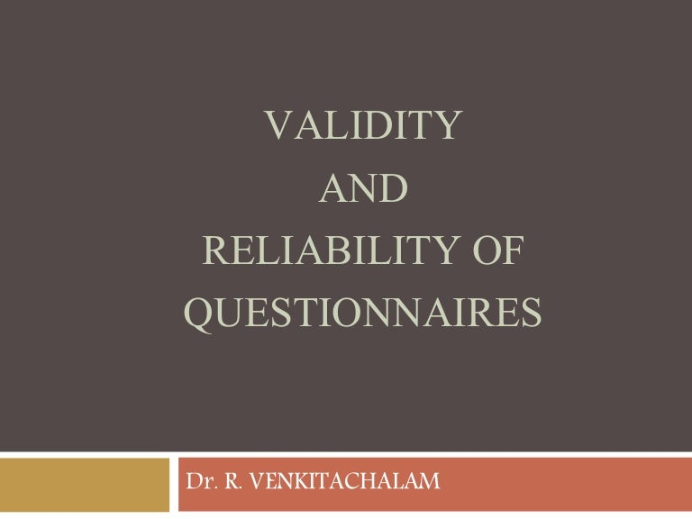 Validating surveys for reliability and validity of data
