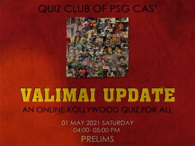 Valimai Update- Kollywood quiz Prelims