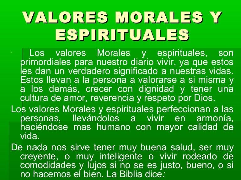 1acbf830a3a9 Valores morales y espirituales