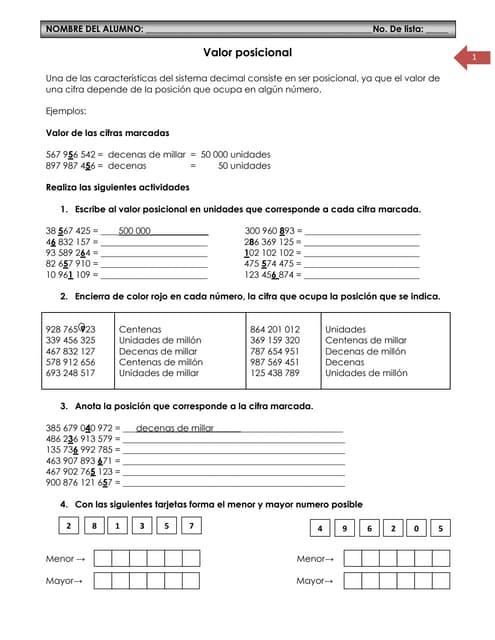 Cuaderno de ejercicios 4to matematica