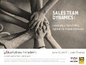 Team Dynamics | Leveraging a Team Selling Approach to Increase Revenue
