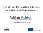 Valuing impact for competitive advantage