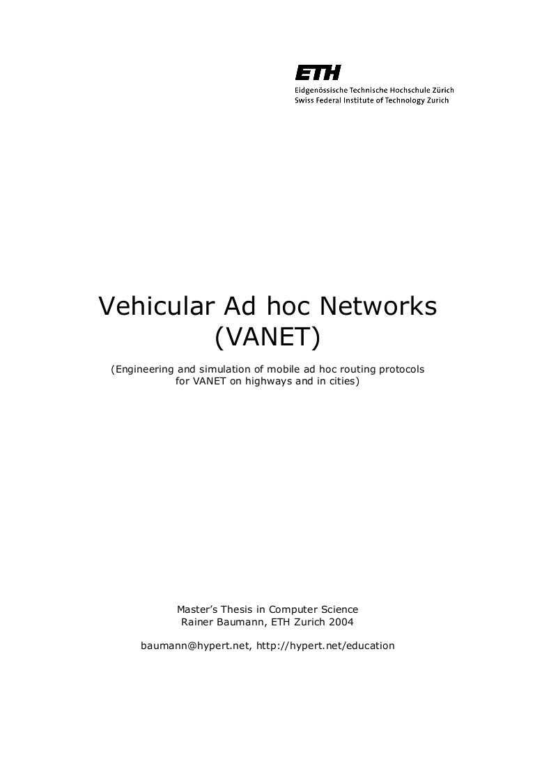 vanet thesis ppt