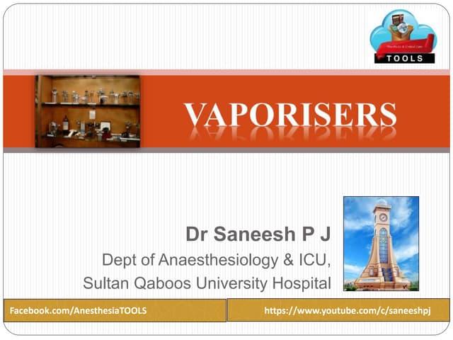 Understanding Anesthesia Vaporizers