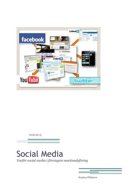 Varför social media