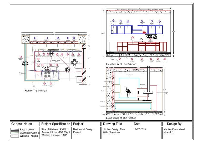 Kitchen Cabinet Elevation Drawings Clipping Cross Section Views At