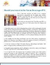 Varun beverages ipo subscription