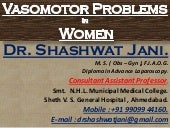 VASOMOTOR PROBLEMS IN MENOPAUSE BY DR SHASHWAT JANI