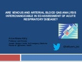 Are venous and arterial blood gas analysis interchangeable in ED assessment of acute respiratory disease?