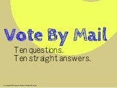 What is Vote By Mail?