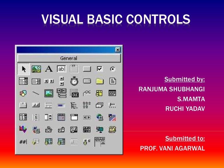 Visual Basic Controls ppt