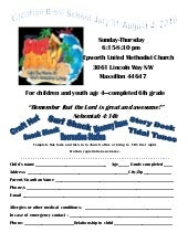 Vbs registration 2016