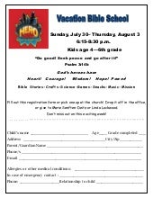 Vbs registration 2017