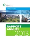 Faits saillants du rapport annuel de Québec International - 2013