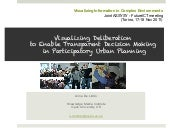 Visualizing Deliberation to Enable Transparent Decision Making in Participatory Urban Planning