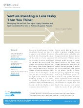 SVB: Venture Investing is Less Risky Than You Think