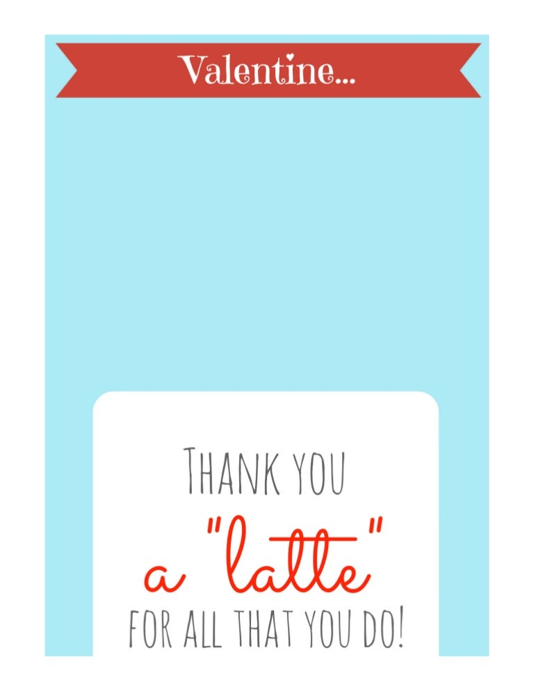 It's just an image of Thanks a Latte Free Printable inside coffee