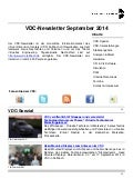 VDC-Newsletter September 2014