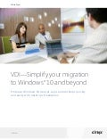 VDI: Simplify your Migration to Windows 10 and Beyond