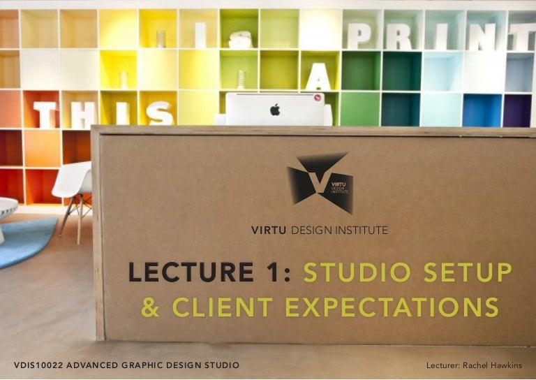 Vdis10022 Advanced Graphic Design Studio Lecture 1 Studio
