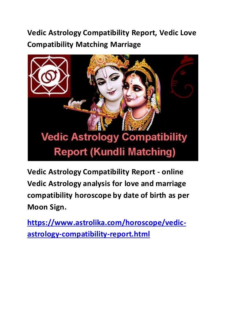 Free vedic horoscope matching