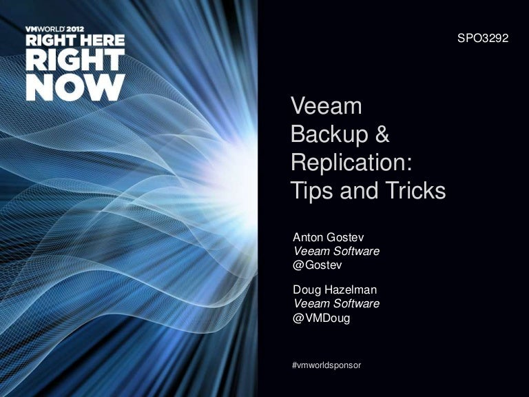Veeam Backup & Replication Tips and Tricks