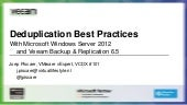 Veeam webinar - Deduplication best ...