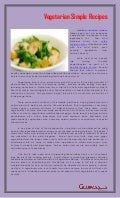 Vegetarian simple recipes