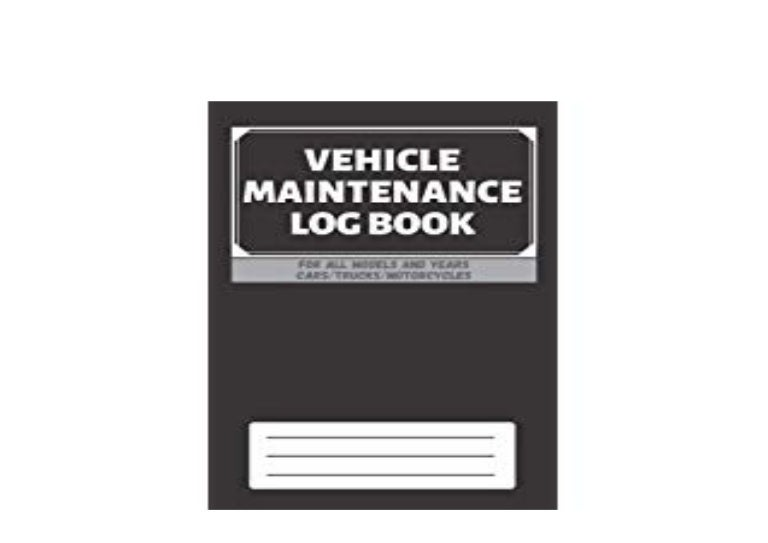 Pdf Online Library Vehicle Maintenance Log Book Service Repairs M