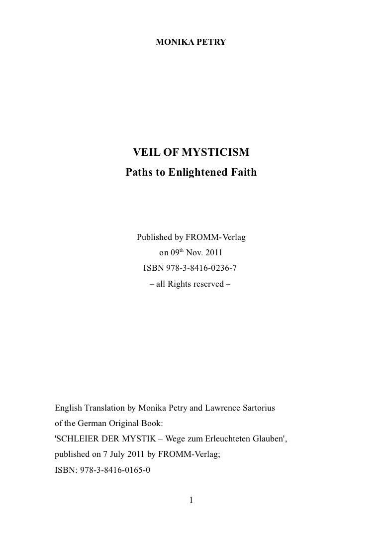 Veil of Mysticism - Paths to enlightened Faith - Monika Petry